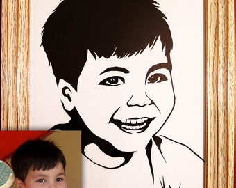 Custom Portrait From Your Photographs Paper cut