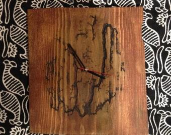 Wood Clock / Fractal / Lichtenberg / Clock
