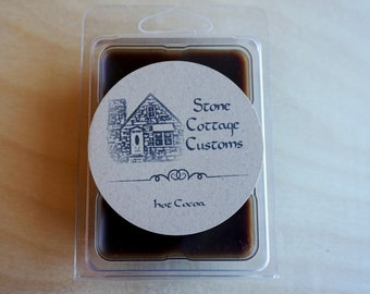 Hot Cocoa scented 3 oz soy wax melts // chocolate scented wax tarts // hand poured small batch // flameless candle
