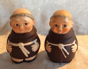 Vintage Friar Tuck Goebel ceramic monk jam jar condiment lidded dish