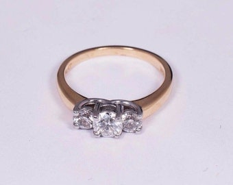 14K Yellow Gold 1ct. tw. Diamond Ring , Size 6.5