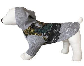 Small, Grey Nautical Graphic Dog Shirt