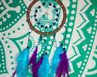 Turquoise dreamcatcher with moonstone
