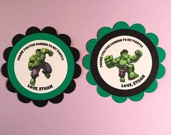 Hulk Inspired Favor Tag, Hulk Birthday Favor Tag, Hulk Party Favor Tag, Hulk Birthday