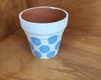 Terra Cotta Dotted Flower Pot