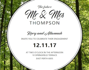 Forest Engagement Party Invitation