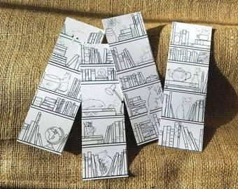 DIGITAL DOWNLOAD cat bookmark set, cat lover gift, adult coloring DIY gift, unique bookmarks, book lover gift, printable coloring bookmarks