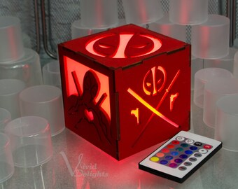 Deadpool inspired Color Changing LED Lantern