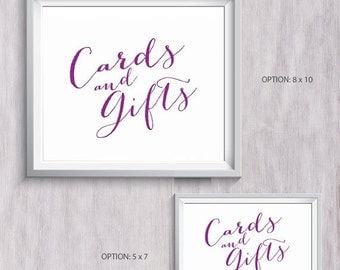 1 Year To Go Until Wedding Gift : 80% Until New YearWedding Cards and Gifts SignPurple8x10 ...