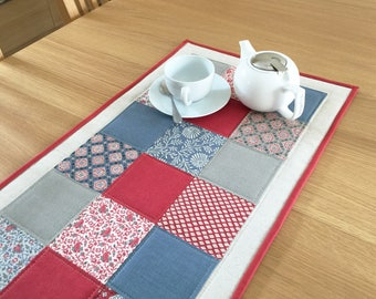 Contemporary table runner, modern table runner, quilted table runner, patchwork table topper, table centrepiece, housewarming gift