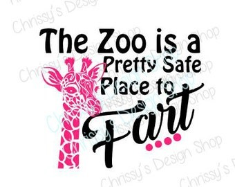 funny quote SVG / safe place svg / giraffe svg / zoo svg / zoo quote svg / funny zoo animal svg / zoo clip art / giraffe clip art