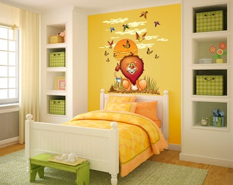African Lion Wall Decal for a Child's Bedroom or Playroom