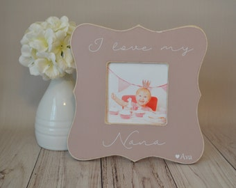 Nana picture frame, custom picture frame,  grandma frame, mother's day gift, personalized picture frame, Nana's blessings picture frame