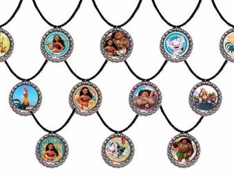 12x Moana Maui Kakamora Inspired Party favor Necklaces