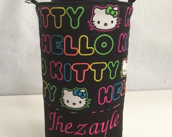 Hello Kitty Neon hydro flask holder / fifty fifty flask carrier / 808 hi-dr8 sleeve/ personalized water bottle holder