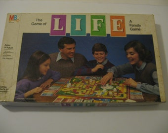 Vintage 1985 Life Game by Milton Bradley Company Family Game Board