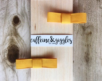 Mustard Yellow Hair Clips    2 Pack {Barrettes}