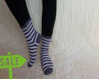 Old price-16.47, NEW price-14.48 Socks, warm, soft, handmade knits, children knits, accessories, unisex, adult socks, casual socks