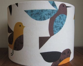 Handmade Lampshade Scandi Happy Birds