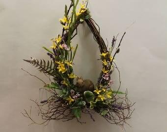 Tear Drop Spring Bunny Wreath