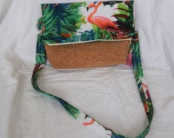 Bag satchel in rabat: small tropical Cork