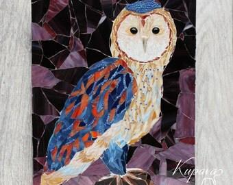 Owl Mosaic. Wall mosaic decor. Custom Mosaic Art. Mosaic. Mosaics. Mosaic art. Glass mosaic. Mosaic Decor. Wall art