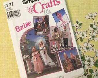 Vintage Simplicity Barbie Wardrobe Pattern #8797 - Uncut
