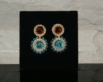 "Long Earrings ""Kaleidoscope"""