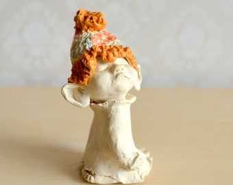 handmade ceramics, ceramics statuette, rarity