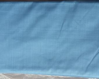 1950s vintage cotton, plain blue, dressmaking, Horrockses Fashions