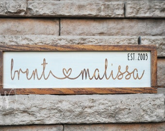 Custom Name Sign - Personalized Name Sign - Wedding Gifts for Couple - Valentines Gift - Name Sign Wood - Housewarming Gift - Bridal Shower