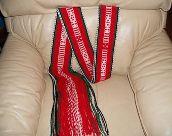 Sash/Belt, Native American, Indigenous, Native Dance,Ceremonial, Genuine, Unique, Designs, Colorful, Woven, Clothing, Accessory, Traditional