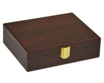 Plain Double 6 Matte Finish Wooden Case