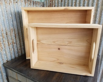 Pair of Wooden cedar crates