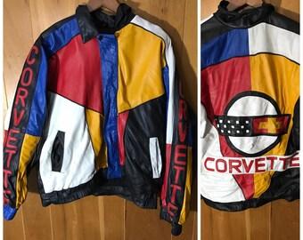 Corvette Vintage Jacket Mens Large