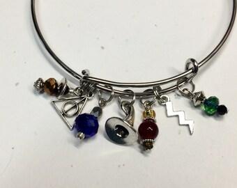 Harry Potter Inspired Bangle Charm Bracelet