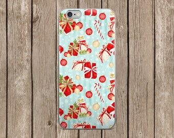 iPhone 5/5s/SE   iPhone 6/6s   iPhone 6 Plus/6s Plus   Blue Background with Christmas Presents Design iPhone Case