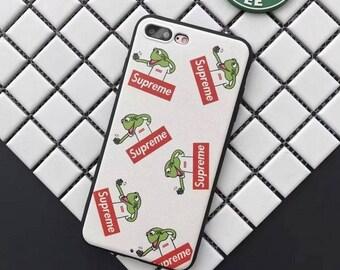 Supreme x kermit inspired iphone case 6(S)/6Plus, 7/7plus