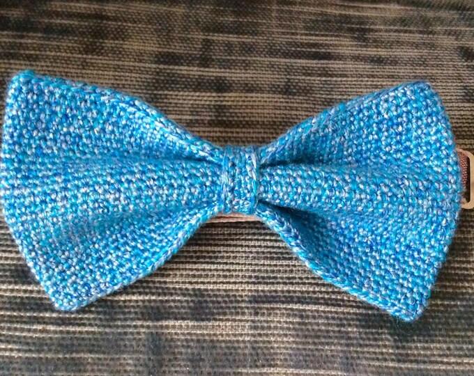 crochet fly/knitting fly silk wool mix, blue