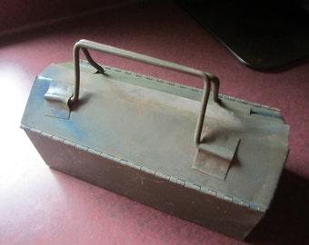 small metal toolbox, industrial decor, rustic decor, unique toolbox