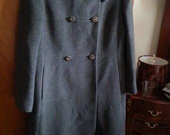 Vintage Kistler Collister Cashmere Trench Coat