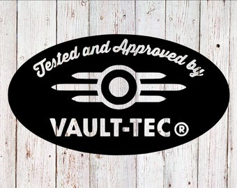 Vault-Tec Decal, Fallout Decal, Fallout4 Decal, Yeti Decal, Tumbler Decal, Laptop Decal, Car Decal, Vinyl Decal, Yeti Sticker, Black Decal
