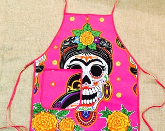 Day of the dead apron Mexico