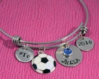 Soccer Bracelet   Soccer Jewelry   Soccer Charm   Soccer Girl Birthday    Soccer Gift Ideas   Girl Bracelet   Soccer Gifts   Soccer Team