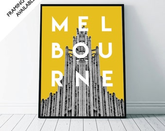 MELBOURNE Art Deco - Travel Wall Art Print | A4/A3/A2