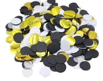 5000 Pieces Black Gold White Paper Confetti Wedding Reception Bachelor Party Retirement Party Decoration