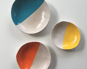 Colour Block Bowls