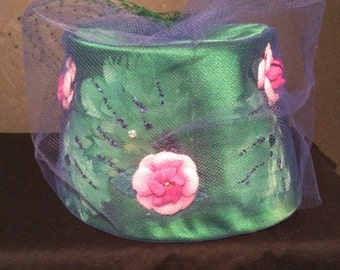 Vintage Luci Puci French Room Women's Pillbox Hat - EU 22