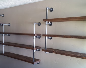 Pipe Shelving Unit / Industrial Shelving / Open Shelving / Wall Shelf