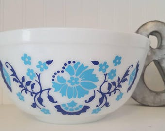 Pyrex Inspired Willow (Blue Floral) Decal